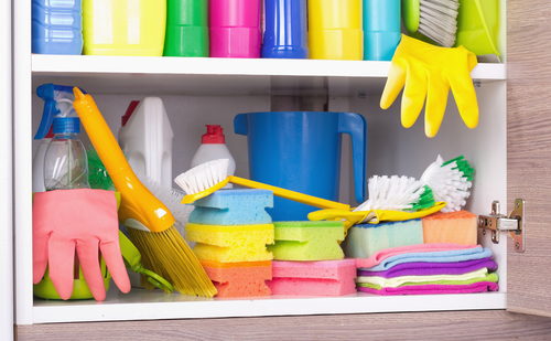 Why is it important to store your cleaning supplies properly